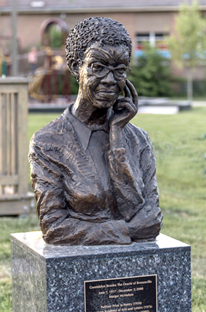 Gwendolyn Brooks sculpture